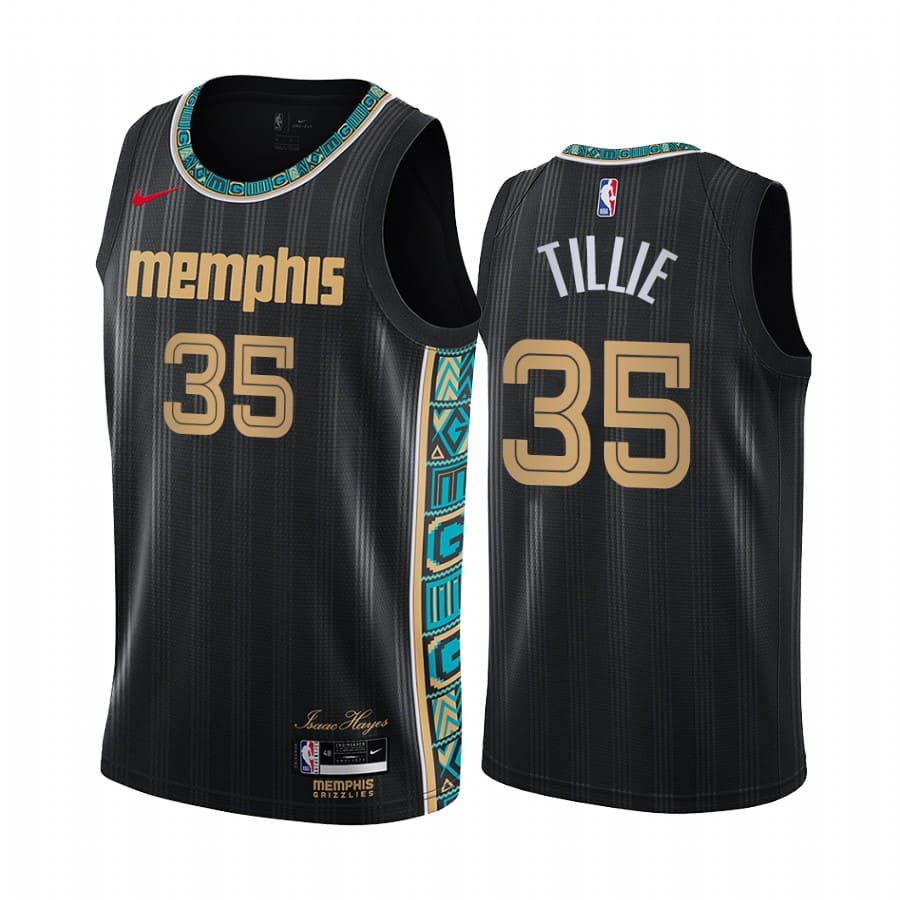 grizzlies killian tillie black city edition jersey