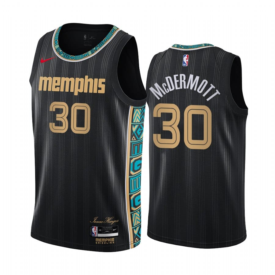grizzlies sean mcdermott black city edition jersey