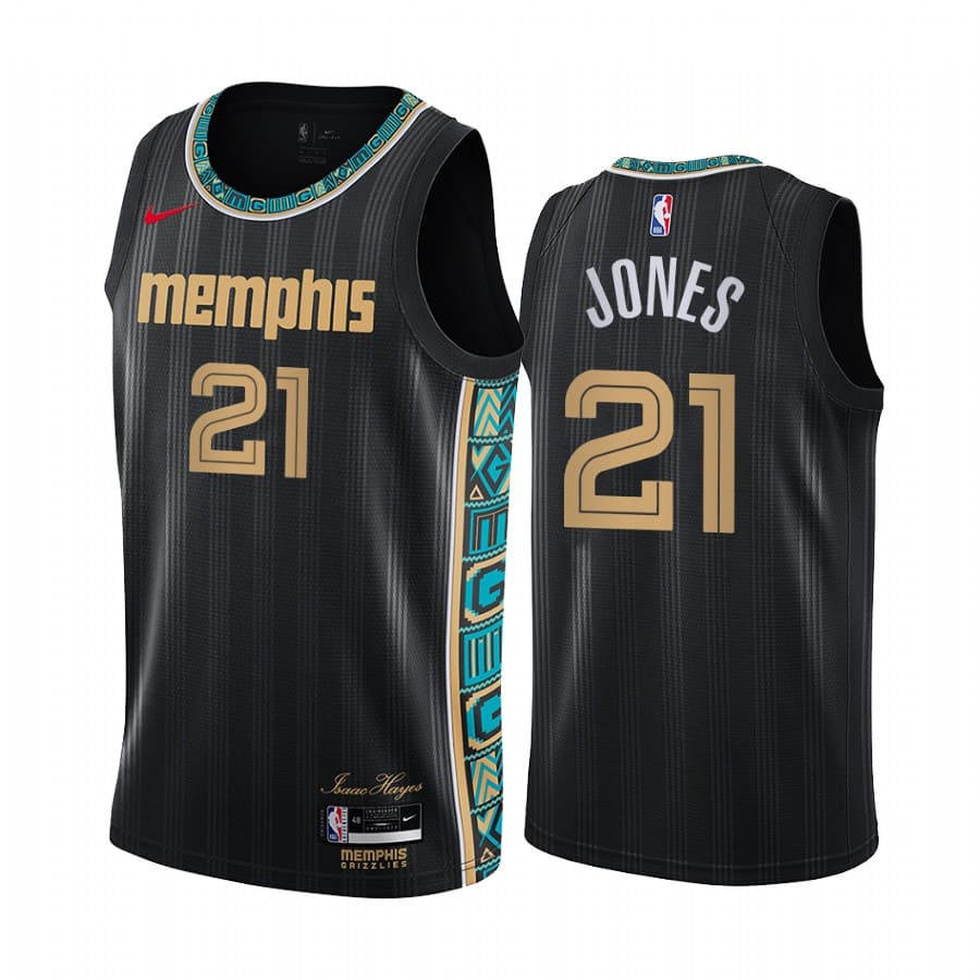 grizzlies tyus jones black city new uniform jersey 1