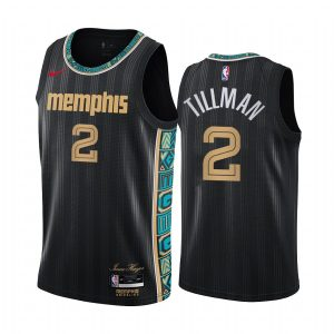 grizzlies xavier tillman black city edition 2020 nba draft jersey 1