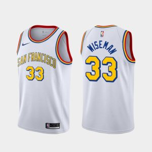 james wiseman warriors 2020 21 white classic jersey