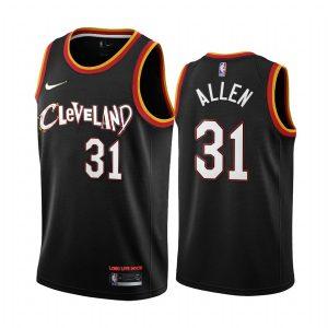 jarrett allen cavaliers 2021 city edition black jersey