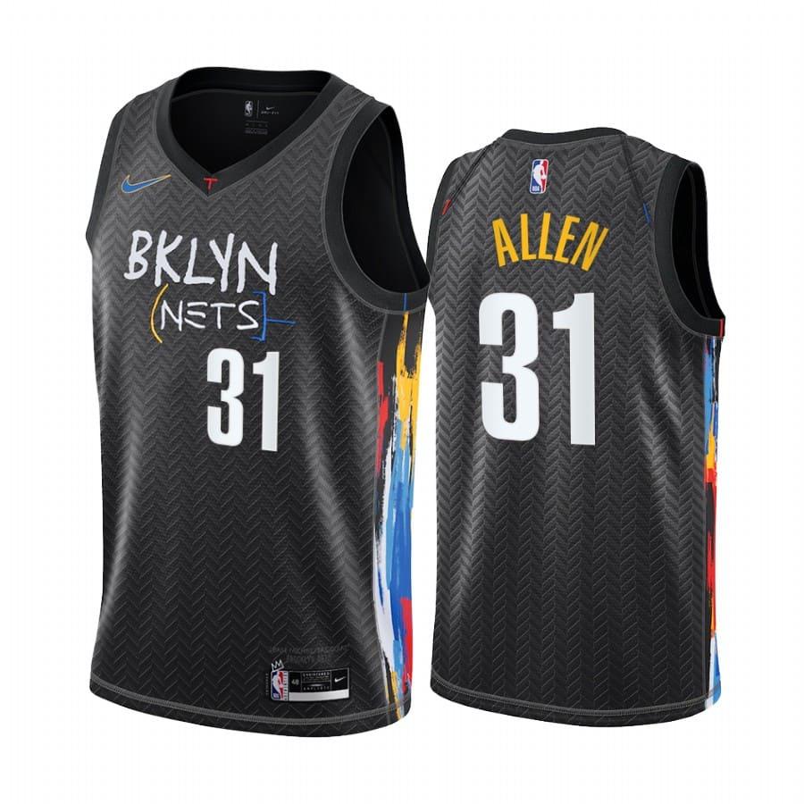 jarrett allen nets black city 2020 21 jersey