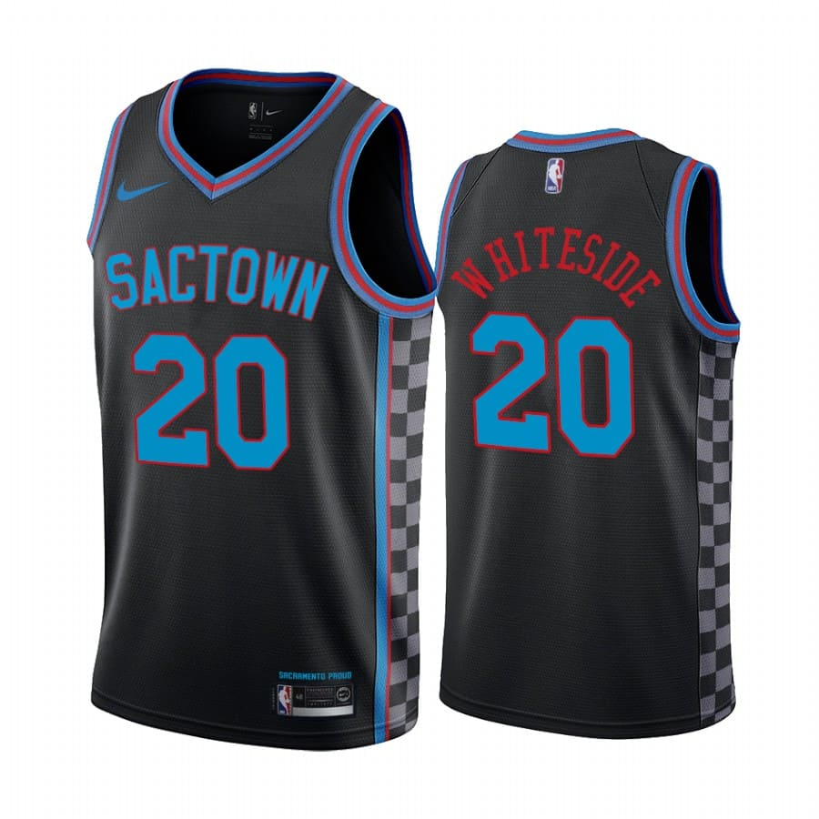 kings hassan whiteside black city 2020 trade jersey 1