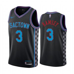 kings jahmius ramsey black city 2020 nba draft jersey 1