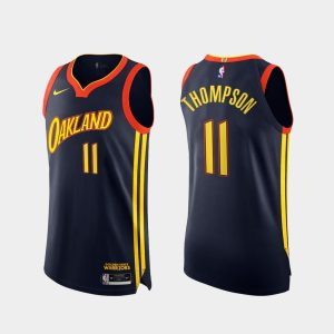 klay thompson warriors 2020 21 navy authentic city edition jersey