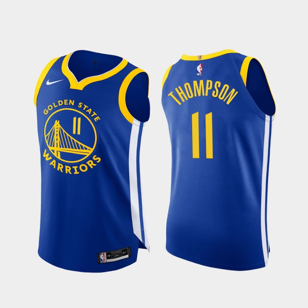 klay thompson warriors 2020 21 royal authentic icon edition jersey