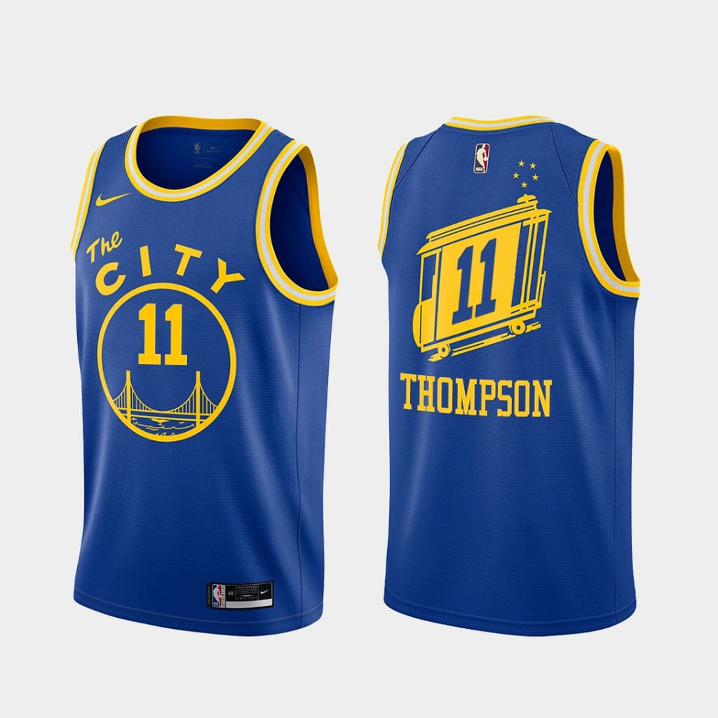 klay thompson warriors 2020 21 royal classic edition jersey