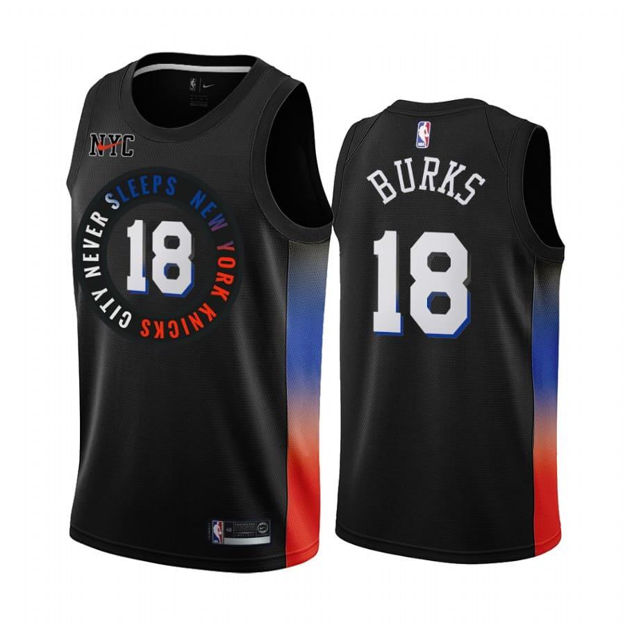knicks alec burks black city 2020 trade jersey 1