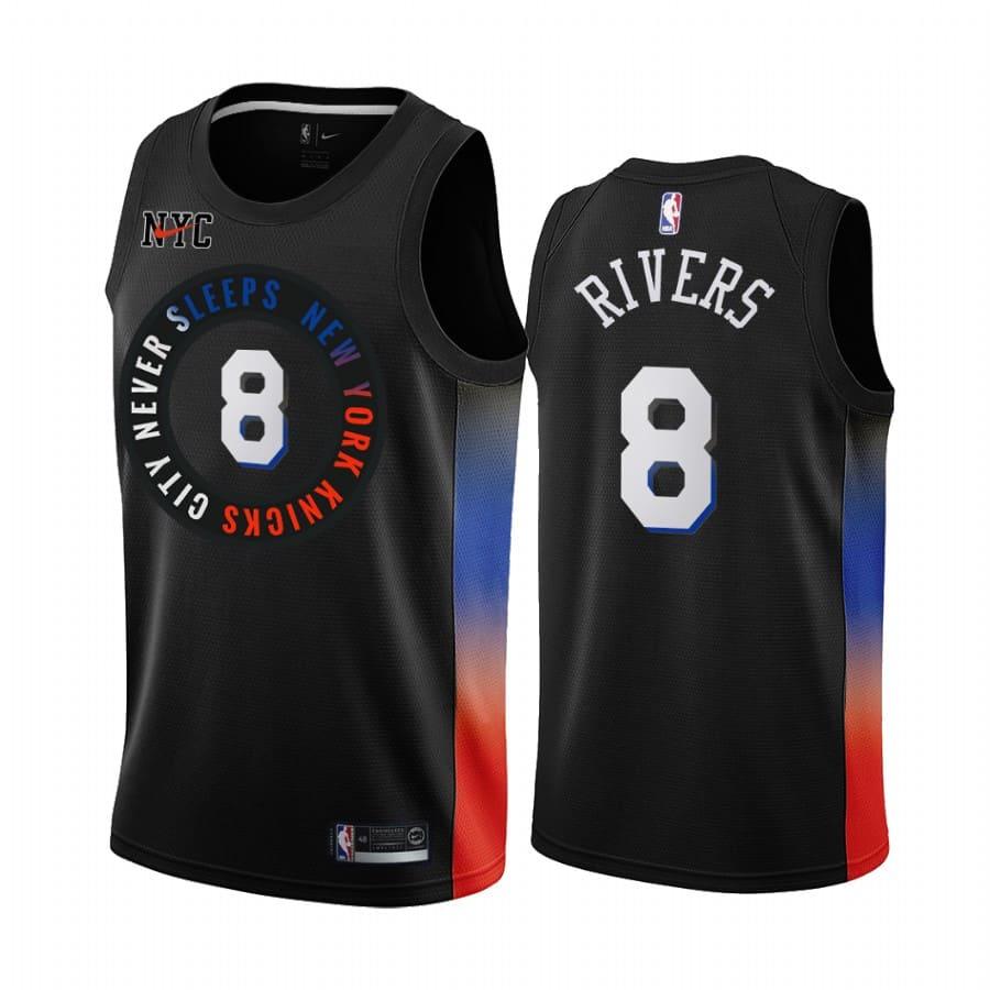 knicks austin rivers black city 2020 trade jersey 1