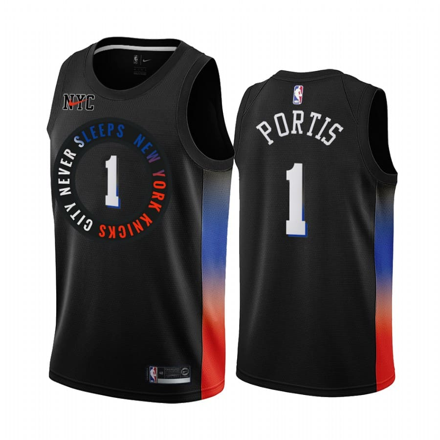 knicks bobby portis black city edition jersey 1