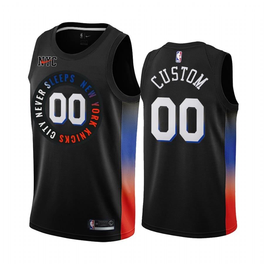 knicks custom black city edition jersey 1