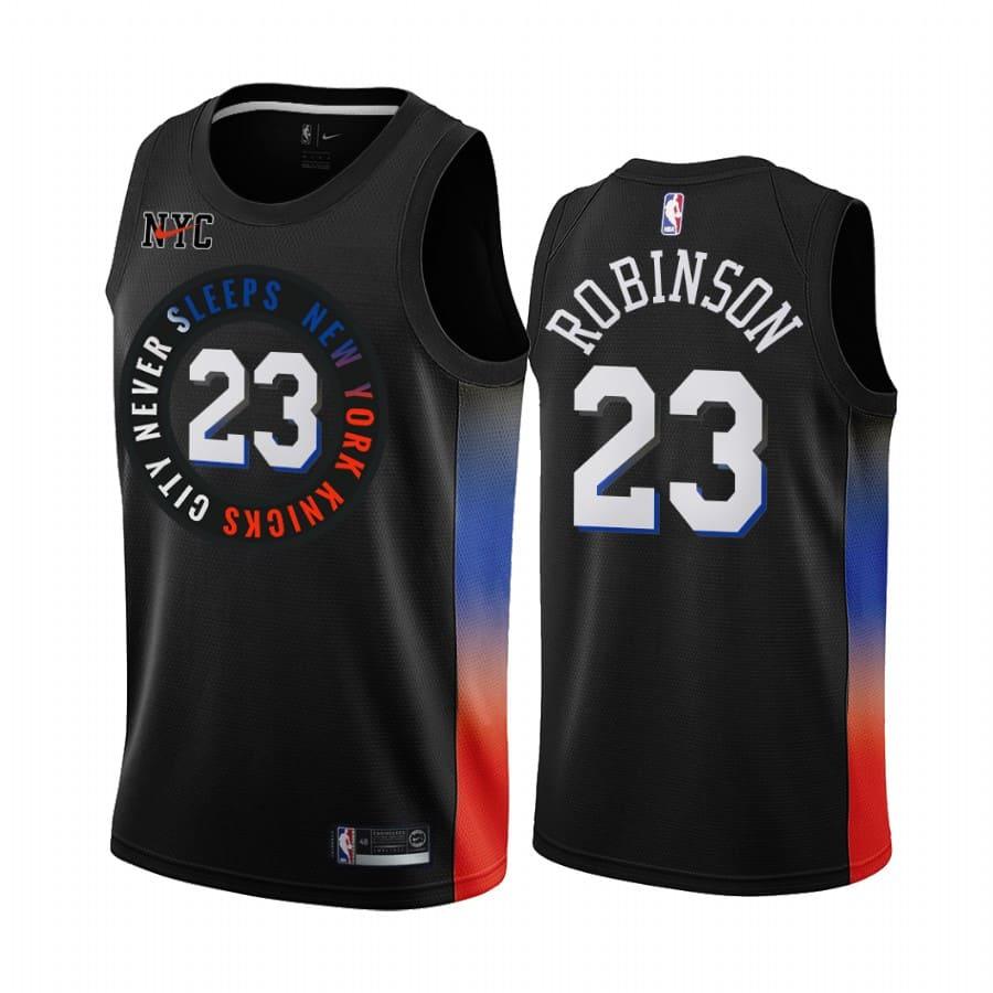 knicks mitchell robinson black city edition jersey 1