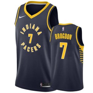 mens pacers malcolm brogdon navy icon jersey