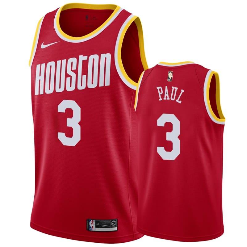 mens rockets chris paul red hardwood classics jersey