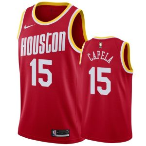 mens rockets clint capela red hardwood classics jersey