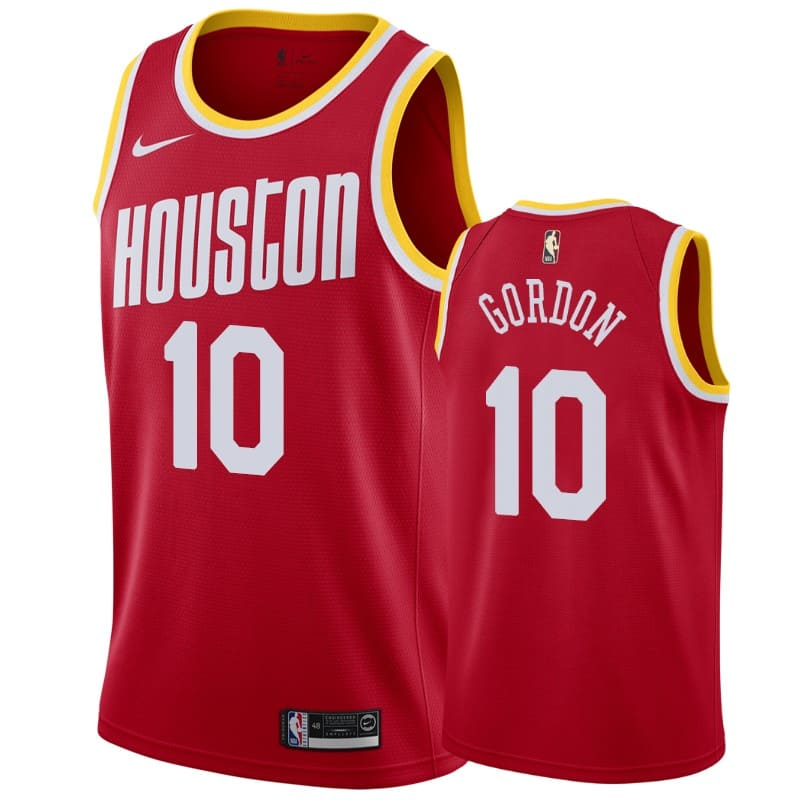 mens rockets eric gordon red hardwood classics jersey