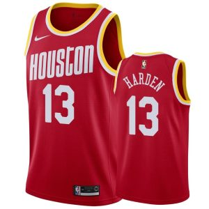 mens rockets james harden red hardwood classics jersey