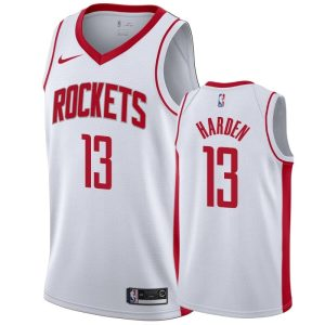 mens rockets james harden white association jersey