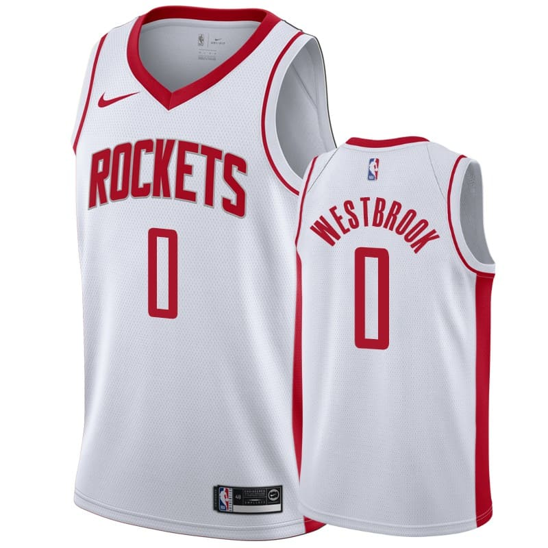 mens rockets russell westbrook white association jersey