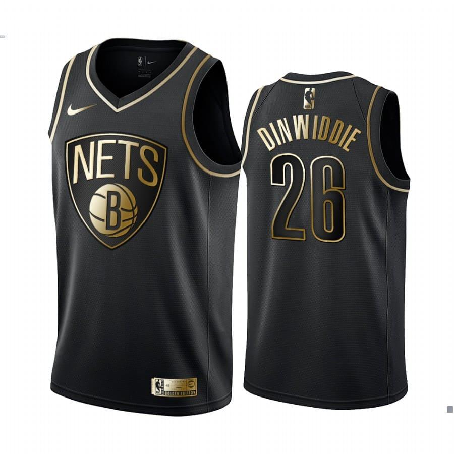 mens spencer dinwiddie black golden edition jersey