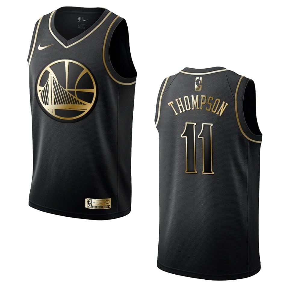 mens warriors klay thompson golden edition jersey black