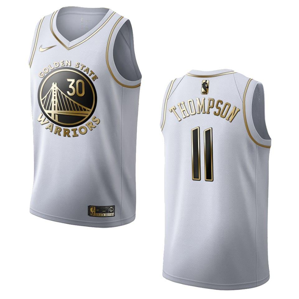 mens warriors klay thompson golden edition jersey white
