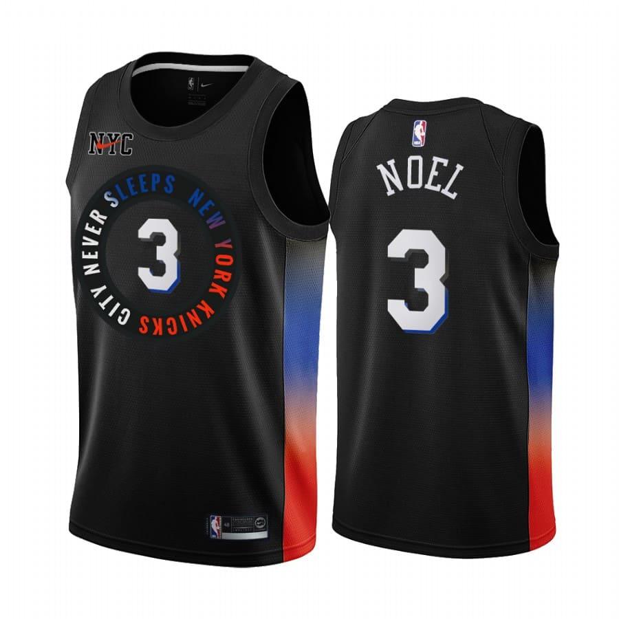 nerlens noel knicks black city 2020 21 jersey 1