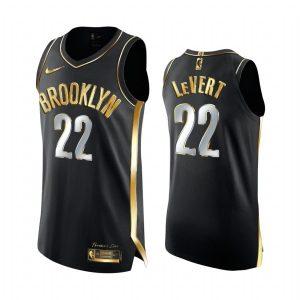 nets caris levert black golden edition 2020 21 jersey