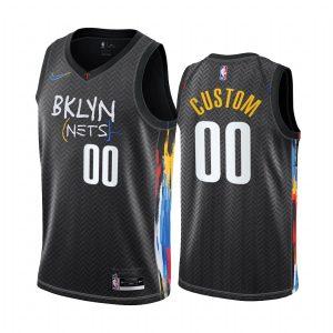 nets custom black city edition honor basquiat jersey
