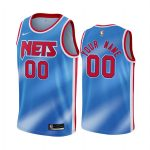 nets custom blue classic edition new uniform jersey