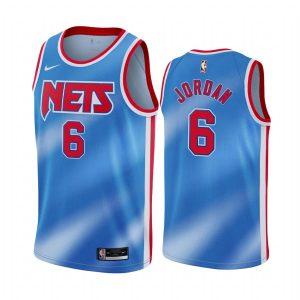 nets deandre jordan blue classic edition new uniform jersey