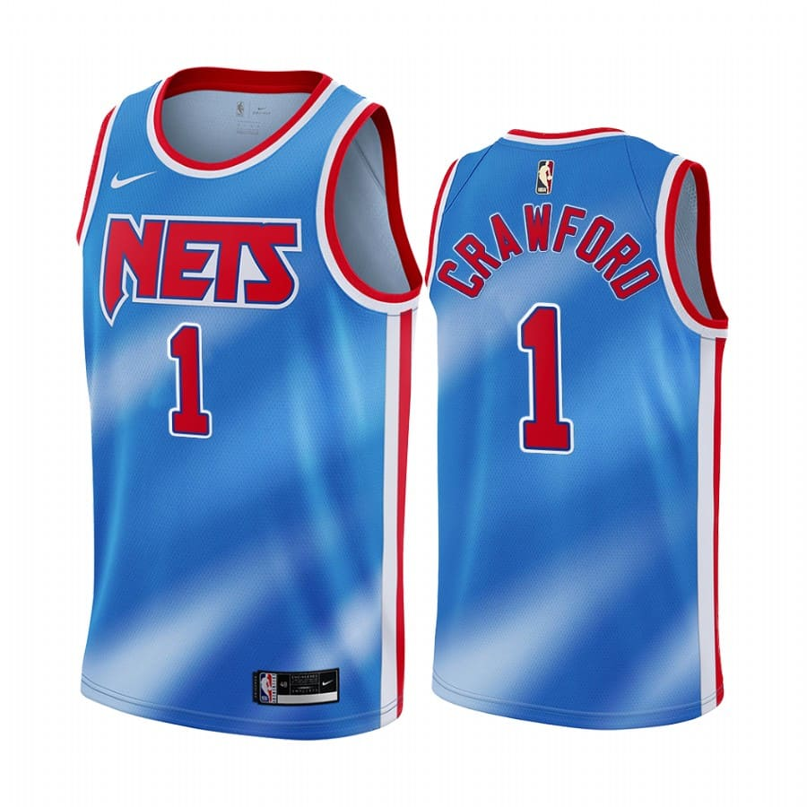 nets jamal crawford blue classic edition tie dye jersey