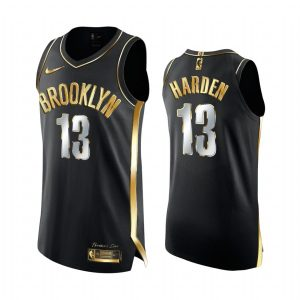 nets james harden black golden edition 2020 21 jersey