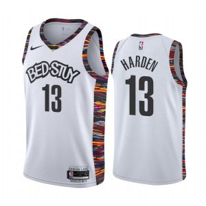 nets james harden white city 2020 trade jersey