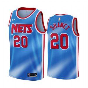 nets landry shamet blue hardwood classics jersey