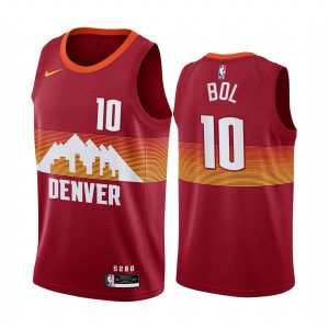 nuggets bol bol orange city edition new uniform jersey 1