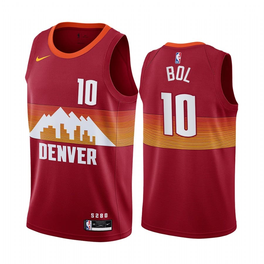 nuggets bol bol orange city edition new uniform jersey 1