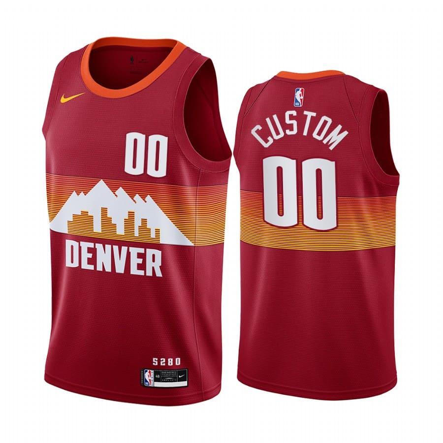 nuggets custom orange city edition new uniform jersey 1