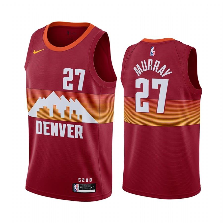 nuggets jamal murray orange city edition new uniform jersey 1
