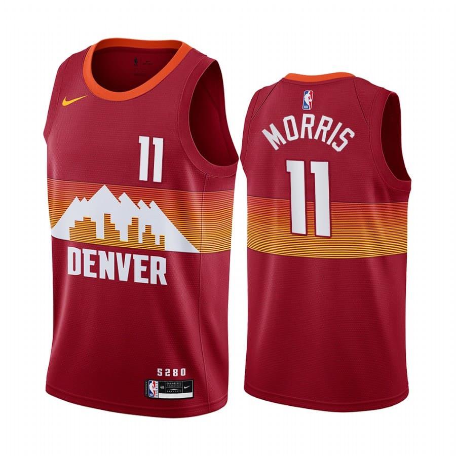 nuggets monte morris orange city edition new uniform jersey 1