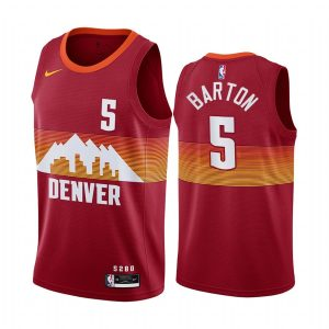 nuggets will barton orange city edition new uniform jersey 1