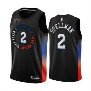 omari spellman knicks black city 2020 21 jersey 1