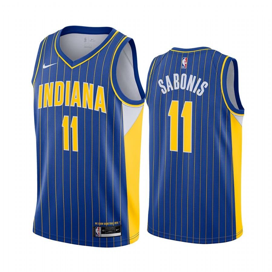 pacers domantas sabonis blue city jersey