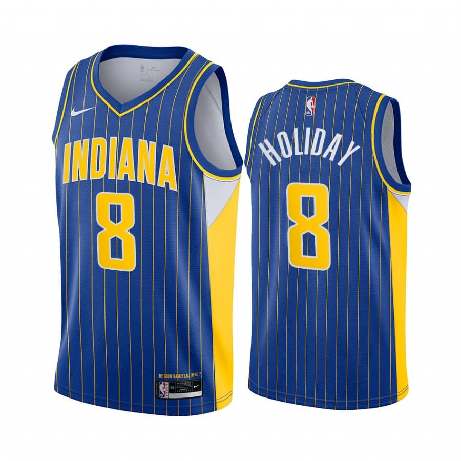pacers justin holiday blue city edition new uniform jersey