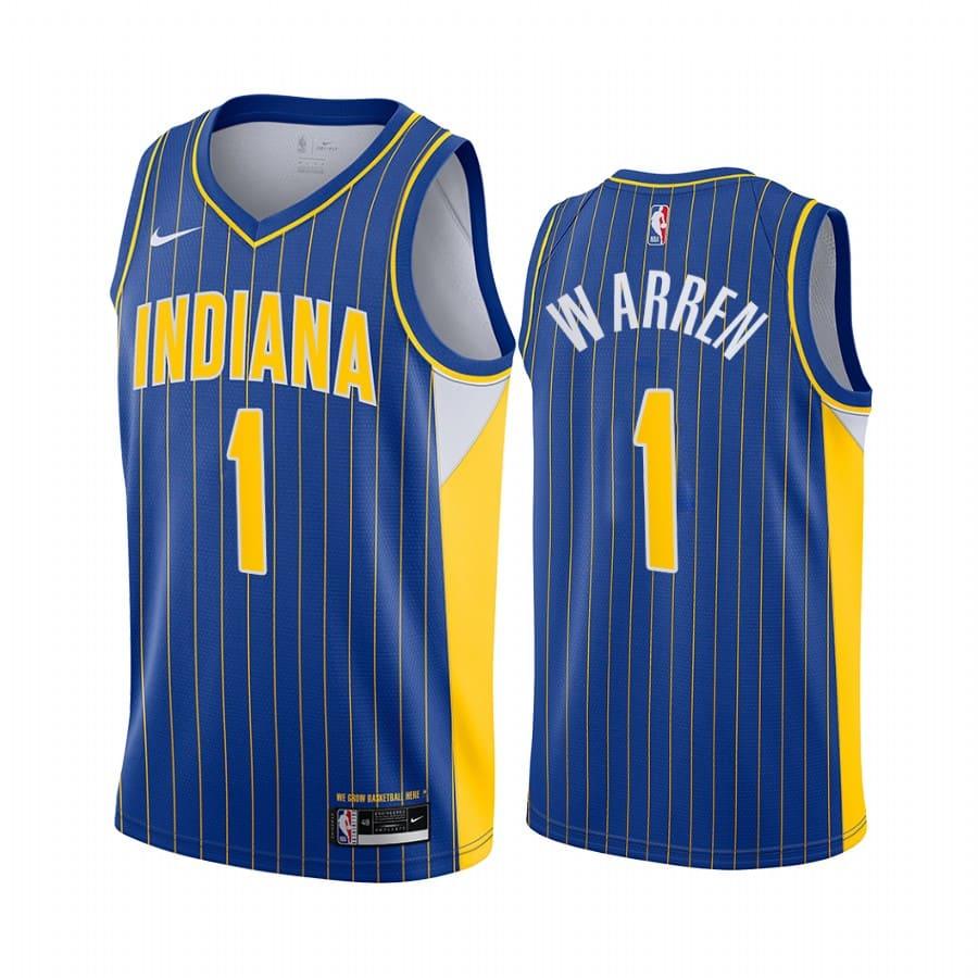 pacers t.j. warren blue city edition new uniform jersey