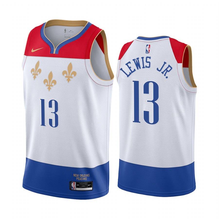 pelicans kira lewis jr. white city 2020 nba draft jersey