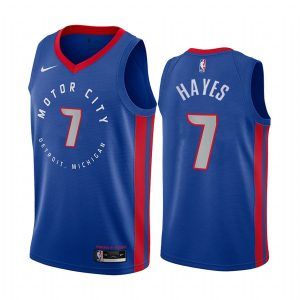 pistons killian hayes navy city 2020 nba draft jersey