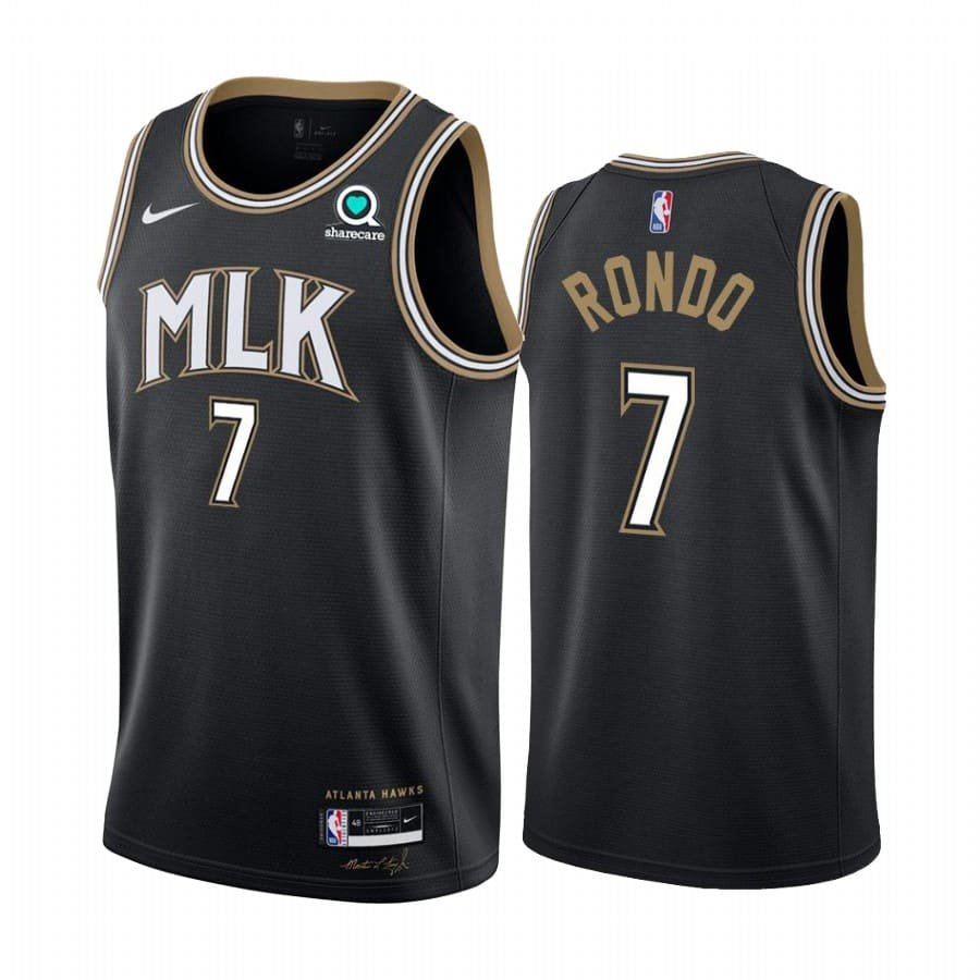 rajon rondo hawks black city edition 2020 21 jersey