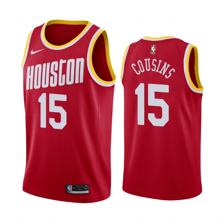 rockets demarcus cousins red classic 2020 trade jersey